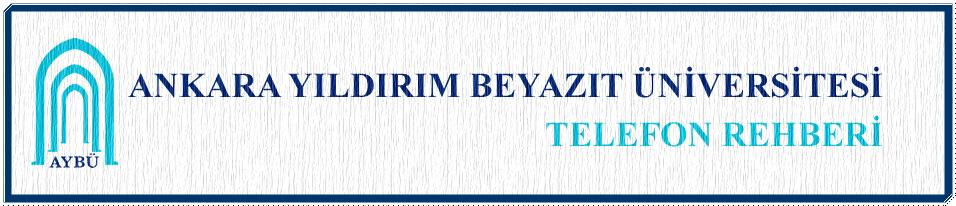 AYBÜ Telefon Rehberi